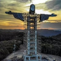 Estátua de Cristo no RS supera a do RJ e vira a maior do Brasil