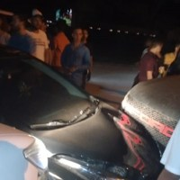 Imagem mostra acidente impressionante entre três carros em Novo Progresso