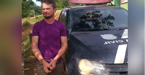 Polaquinho preso pela policia civil em Jacareanga(Foto:Divulgação Policia Civil )