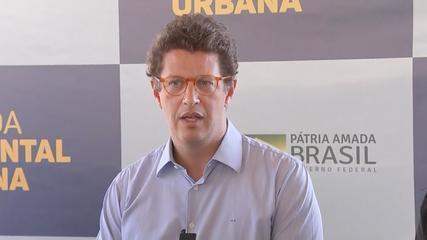 Alvo de operação, Ricardo Salles diz que 'informações não condizem com a realidade'(reprodução g1)