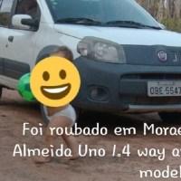 Veículo é roubado durante a madrugada de sábado, em Moraes Almeida