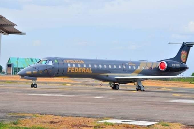 Aeronave usada na operação (Foto:Via WhatsApp)