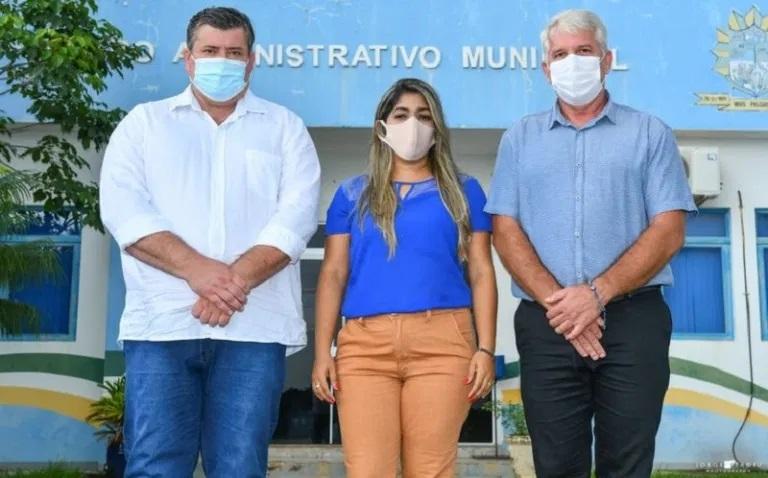 Secretária de Administração e Planejamento: Claudiléia dos Santos no ato da posse em Novo |Progresso .(Foto:Redes Sociais)
