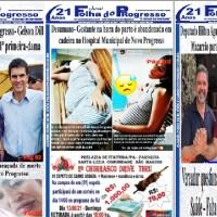 """CIRCULANDO AS NOVAS EDIÇÕES IMPRESSAS DO """"JORNAL FOLHA DO PROGRESSO"""""""