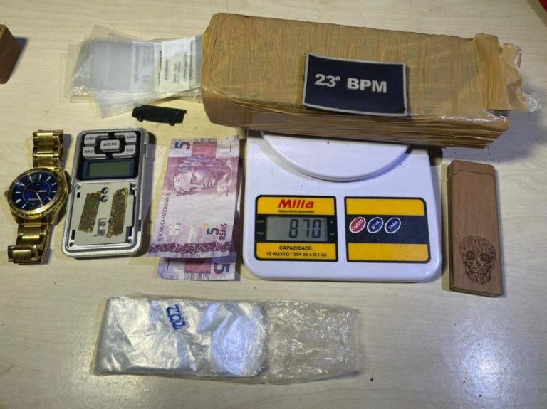 Drogas encontradas com o traficante | DIVULGAÇÃO