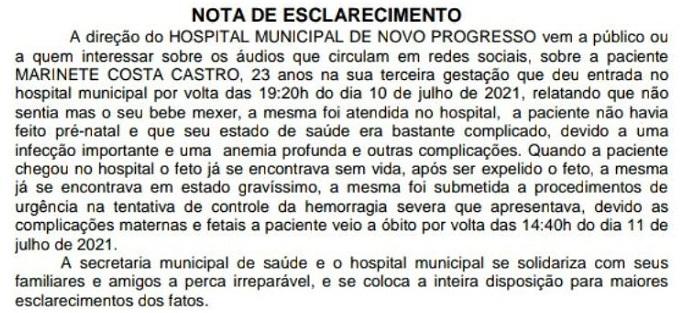Nota Pública HMNP