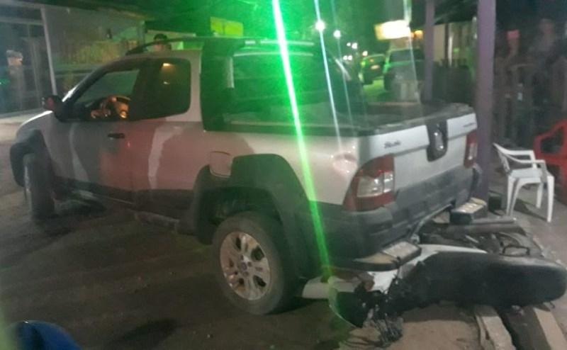Veiculo usado para o delito foi preso e já foi liberado. (Foto:Via WhatsApp)