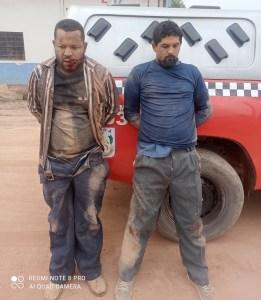 Suspeitos presos pela PM. (Reprodução)