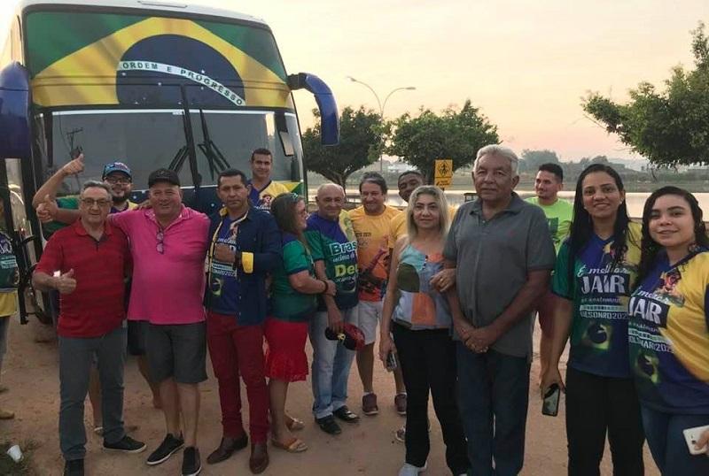 Progressenses seguiram para manifestação em Brasília (Foto:Redes Sociais)