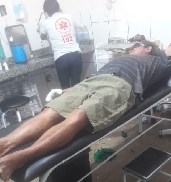 Radialista foi atendido na emergência do HMNP (Foto:Via WhatsApp)