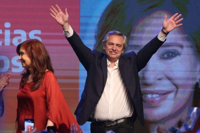 Alberto Fernández e Cristina Kirchner vencem eleições na Argentina. Foto: REUTERS/Agustin Marcarian