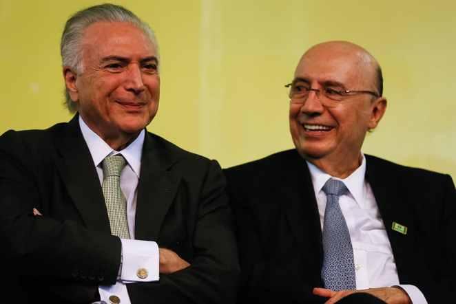 Michel Temer e Henrique Meirelles incluíram, em abril de 2018, a Eletrobras no Plano Nacional de Desestatização. Foto: Beto Barata/PR