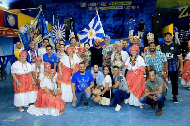 Filho e netos de Chico Anysio, participam de festa em escola de samba que homenageará humorista em 2020. Foto: Renato Cipriano / Divulgação