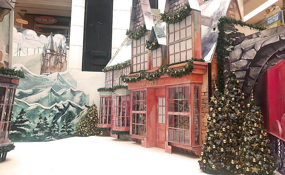 Pela primeira vez no Brasil, Harry Potter inspira decoração natalina de shopping