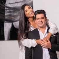 Cantor Léo Magalhães se casa com Josi Neves