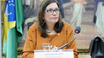 A deputada Bia Kicis (PSL) é alvo do inquérito das fake news, que investiga a participação de organizações e pessoas na produção e divulgação em massa de notícias falsas (Foto: Cleia Viana/Câmara dos Deputados)