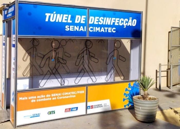 Governo da Bahia implanta túnel de desinfecção em Juazeiro