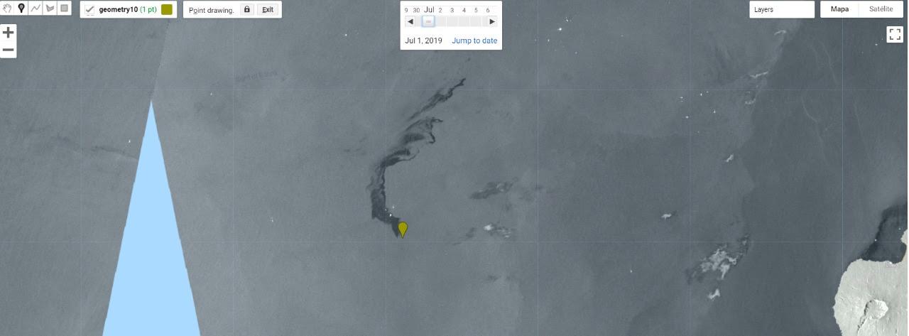 Imagens de satélite mostram o possível vazamento de petróleo na costa da África (Foto: Brenda Alcântara/Agência Pública)