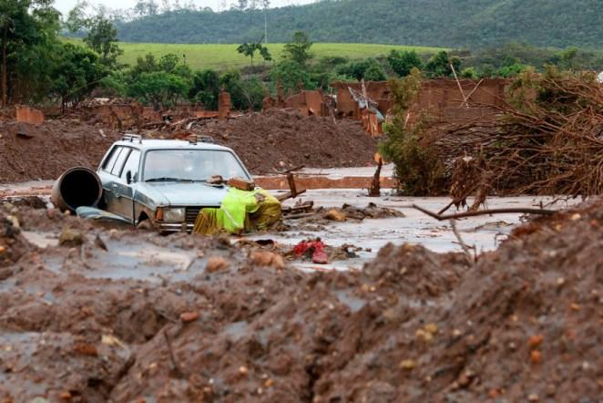 O subdistrito de Bento Rodrigues, em Mariana, foi assolado pelo rompimento da barragem de rejeitos da mineradora Samarco em 2015 (Foto: Rogério Alves/TV Senado)