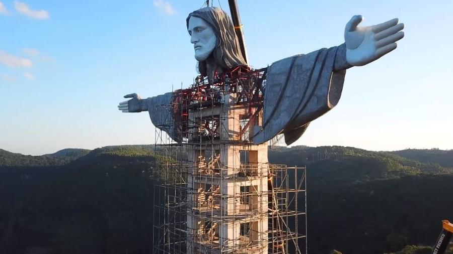 Maior Cristo do Brasil: Estátua de Cristo no RS supera a do RJ