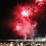 Ano Novo: Queima de fogos e shows na Praia do Morro