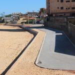 Após conclusão do muro, obras continuam na Praia do Riacho em Guarapari