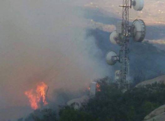 Incêndio descontrolado no Pico do Jabre pode deixar PB e PE sem comunicação