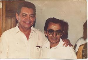 Com o poeta e ex-governador da Paraíba Ronaldo Cunha Limna