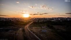 Pôr do sol fotografado a partir da Alça