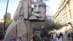 Na Praça das Armas, marco zero da capital chilena