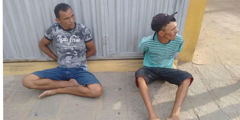 Boboca e Pepinha, dois traficantes de drogas da cidade de Malta,são presos em Patos