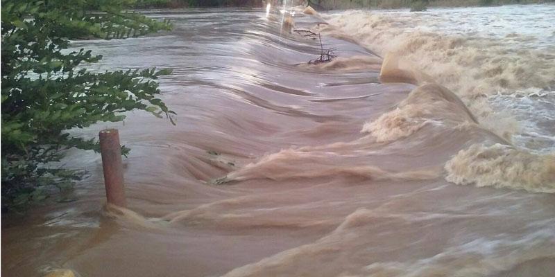 Chove 170 milímetros na região de Catingueira. Rio Barrento está com muita água; vídeo