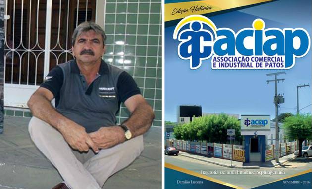 Jornalista Damião Lucena lança revista para marcar os 73 anos da Associação Comercial e Industrial de Patos