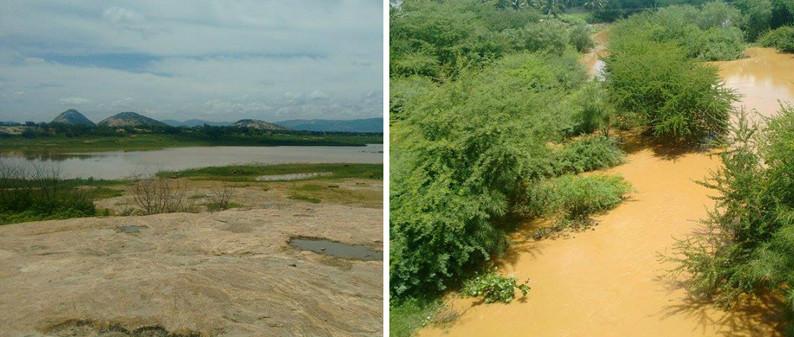 Recarga de 0,80% no Açude do Jatobá e água correndo no Rio Espinharas
