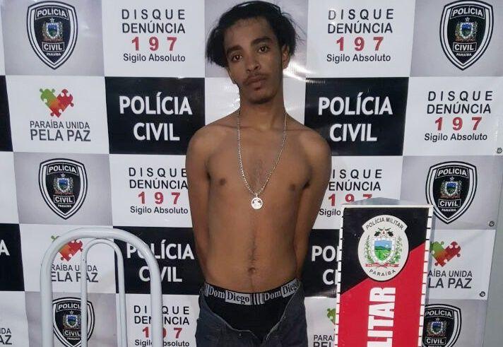 Diego da Rua do Meio: Polícia prende em Patos, jovem procurado pela Justiça