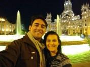 No Palácio de Cibeles, em Madrid
