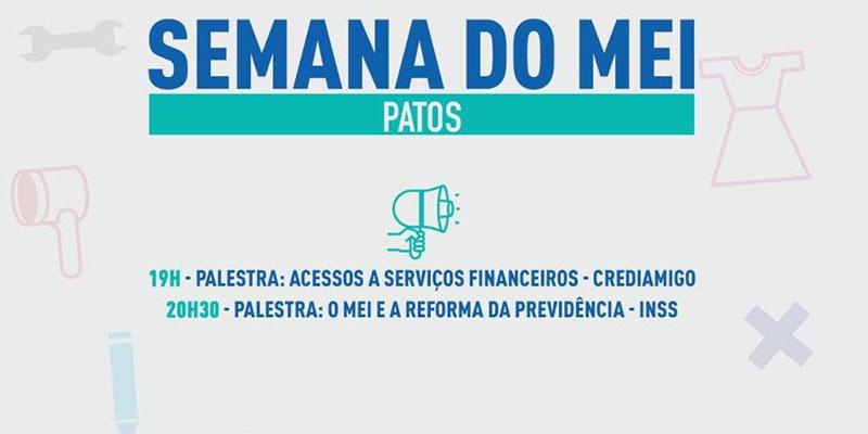 Sebrae promove Semana do Microempreendedor em Patos