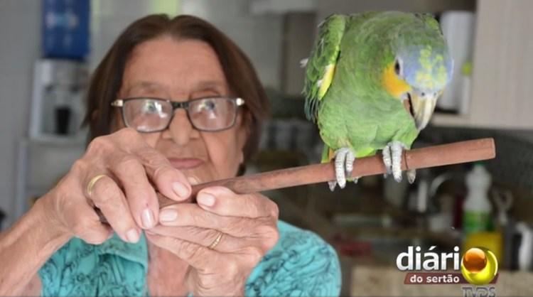 Fantástico faz reportagem sobre paraibana que foi à Justiça para ficar com papagaio em Cajazeiras