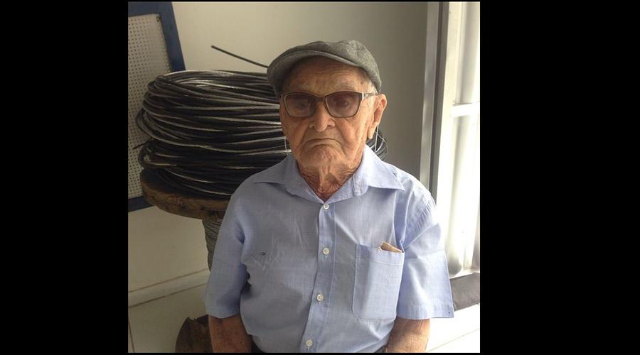 Os 104 anos de Joãozinho da Cruz, ex-músico da Filarmônica 26 de Julho