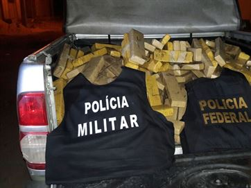 Operação conjunta entre PF e PM apreende 215 kg de maconha em Juazeirinho