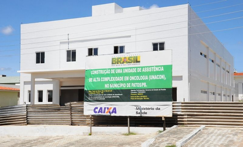 Hospital de Oncologia de Patos deve ser inaugurado até o começo de abril, segundo o governador