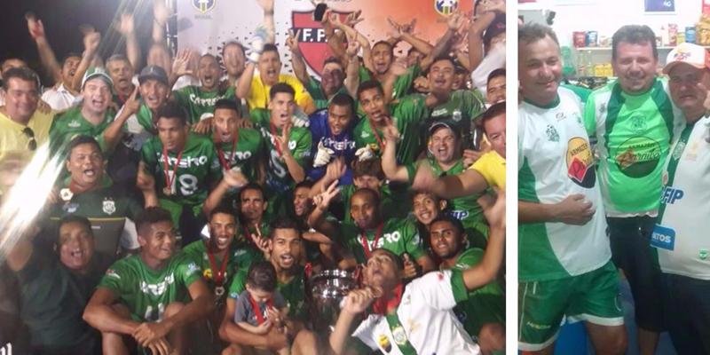 Nacionalinos comemoram o título da 2° divisão