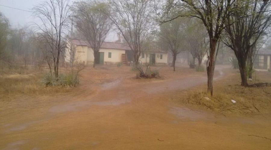 Registros de chuva na tarde de hoje no município de São Mamede