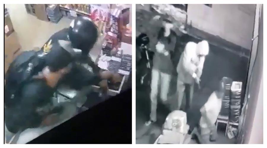 Vídeo: Homens armados assaltam mercadinho em Matureia