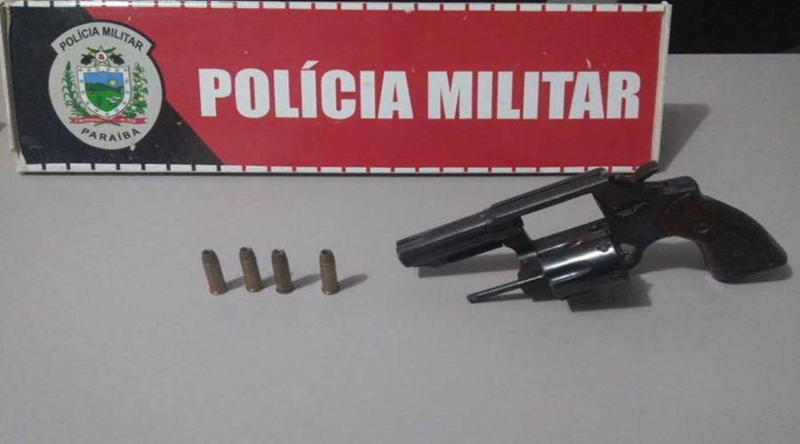 Arma de fogo é apreendida com jovem no Sítio Campo Comprido em Patos