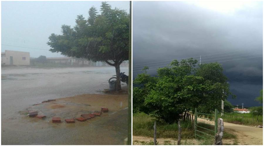 Tarde e começo de noite com muita chuva na região