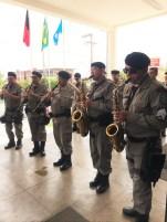 A Banda da Polícia Militar participou da solenidade