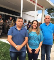 A diretora geral do Complexo, Liliane Sena, o gerente da 6ª Regional, Leudo Farias e o presidente da CIR, José Rucleanto,