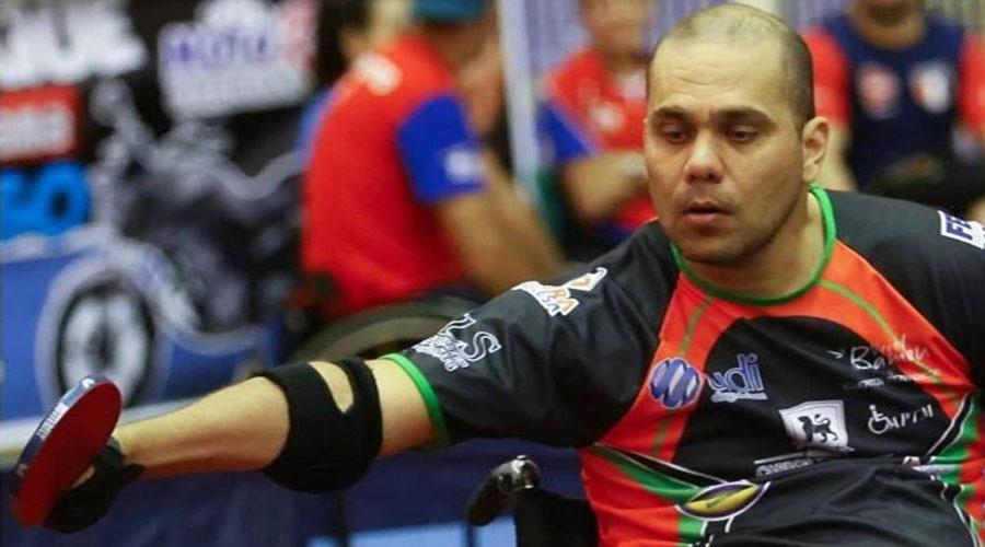 Atleta paralímpico Lacordaire vai disputar mais um Campeonato Brasileiro de Tênis de Mesa