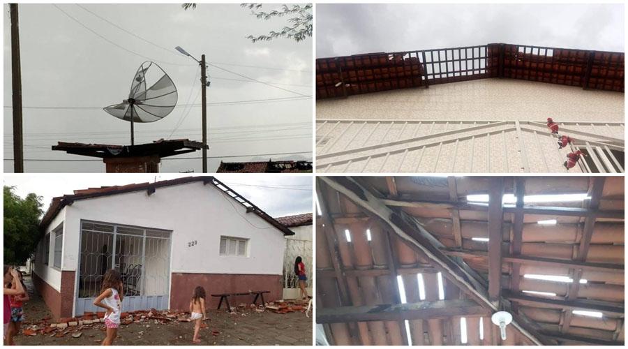 Imagens dos estragos provocados pela chuva de granizo e ventania em São José de Espinharas